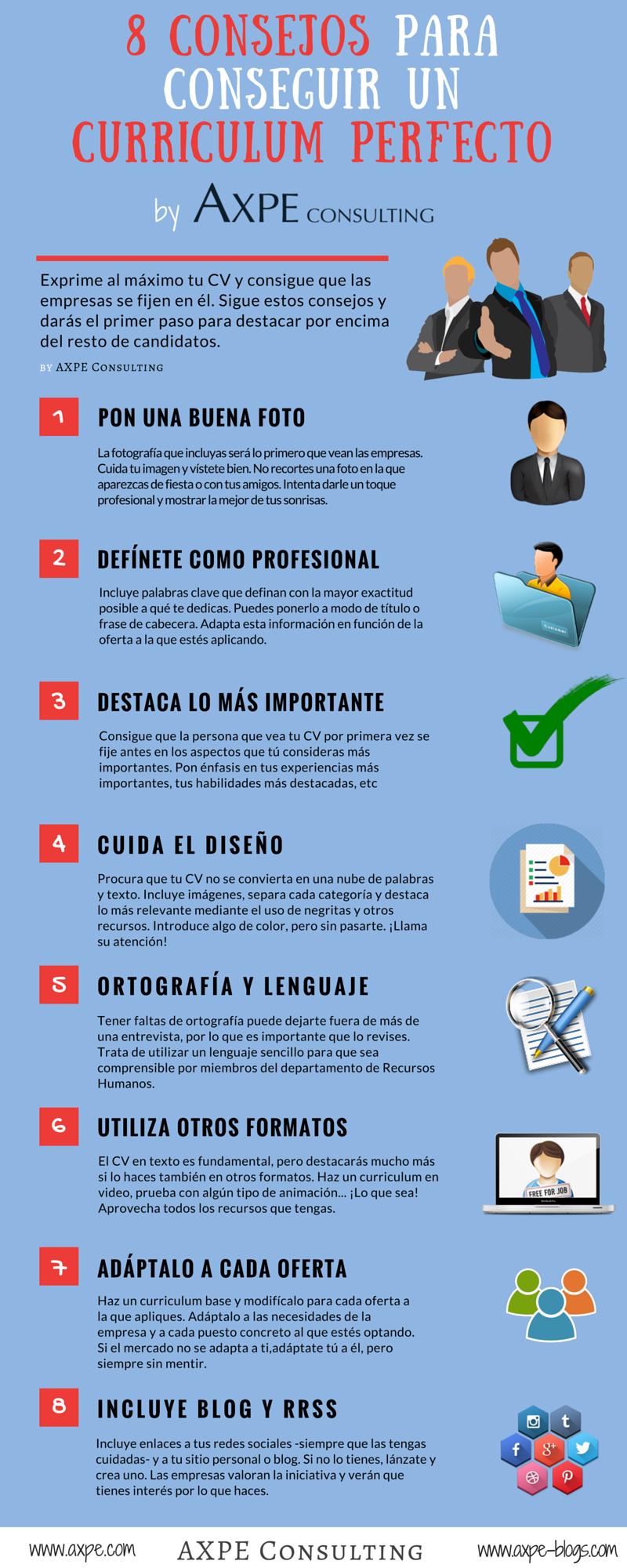 INFOGRAFÍA: 8 consejos para conseguir un CV perfecto - Blog oficial ...
