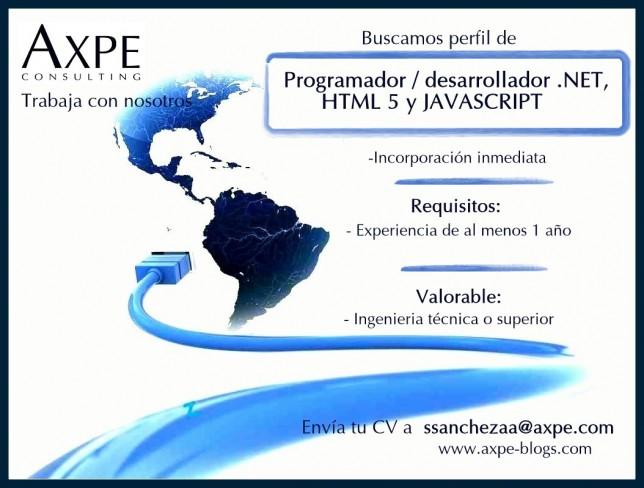 AXPE Programador desarrollador