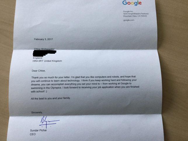 contestacion del CEO de google